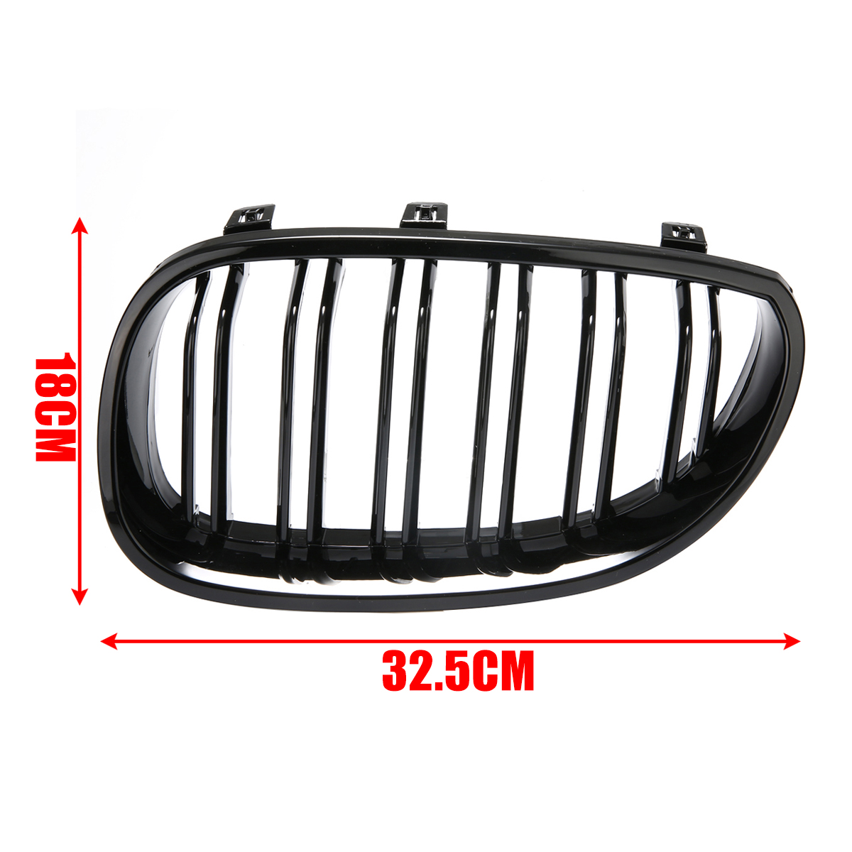 1Pair Gloss Black Car Front Sport Grill Kidney Grilles Grill For BMW 5 Series M5 E60/E61 2003 2004 2005 2006 2007 2008 2009 2010