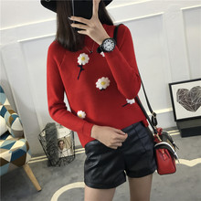 5819 - Autumn tee raglan sleeve knit flower head 43(China)