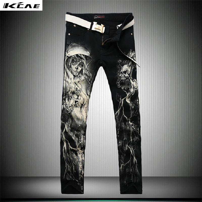 Hot Sale Printed Jeans Men 2017 New Style Elastic Jeans Slim Fit Skinny Jeans High Quality Mens Clothing 28-38Одежда и ак�е��уары<br><br><br>Aliexpress