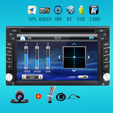 2 din universal Car Radio monitor Auto DVD Player USB GPS In dash Car PC Stereo video steering RDS Head Unit+Free Camera For VW
