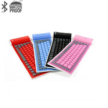 MiNi Bluetooth Wireless Keyboard Silicone Material 85 Keys 25cm x 8cm x 1.5cm Silent Light Portable Clavier For IPad IOS Android