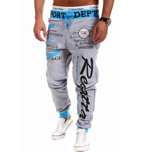 Free shipping 2016 male trousers New York letters printed with pants pants and comfortable sweatpants men