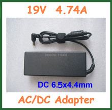 20pcs AC/DC Adapter 19V 4.74A 90W Power Supply for Sony Laptop DC 6.5x4.4mm with AC Cable Laptop Charger