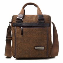 High Quality Canvas Messenger Shoulder Bag Men Briefcase Casual School Cross Body Book Bags Male Vintage Tablet PC Tote Handbag