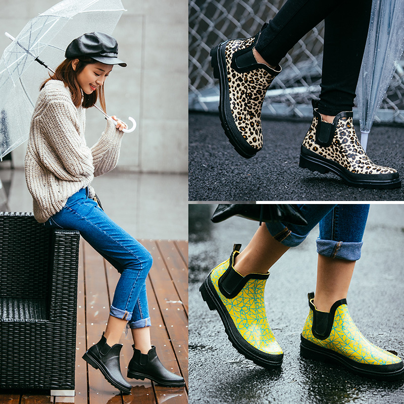 Fashion rain boots female short water shoes female adult rainboots overstrung slip-resistant low plus velvet flat heel overshoes<br><br>Aliexpress