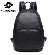 New Arrival 2017 Designer Male Functional bags Fashion Men backpack Genuine Leather backpack big capacity Rucksacks Men bags(China)