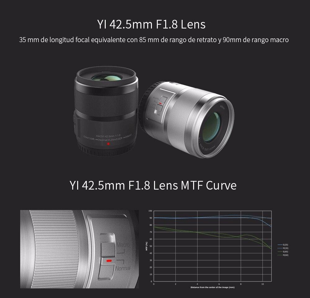 YI M1 Mirrorless Digital Camera 4k/30fps 3.0″ LCD 20MP Video Recorder WIFI BT 81 AF Points 720RGB H.264 International Edition
