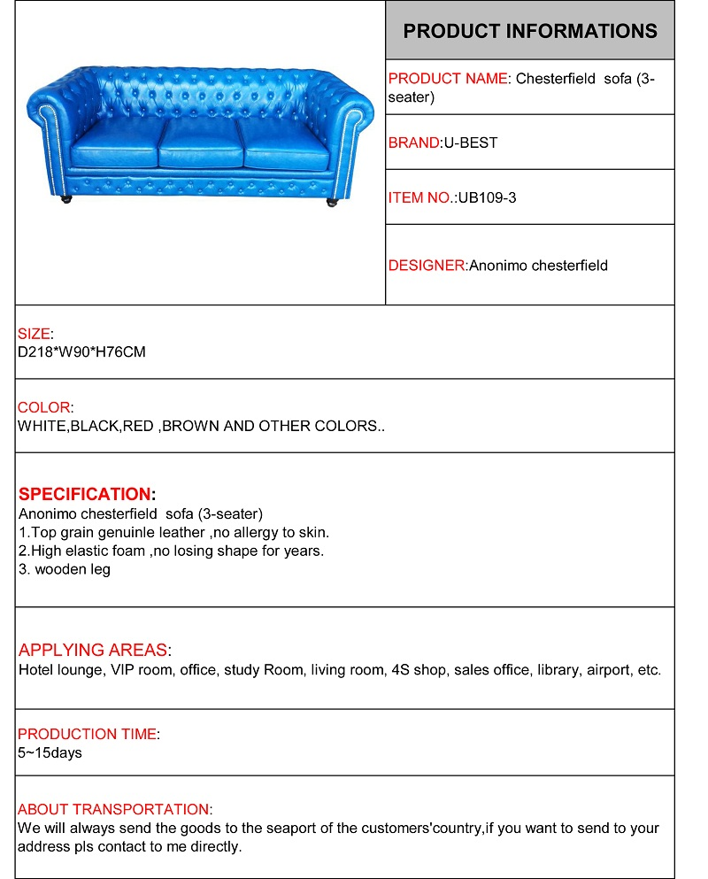 Anonimo chesterfield sofa (3-seater)