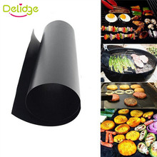 2 pcs/lot Teflon Fiber BBQ Mat Reusable Non-Stick BBQ Grill Mat Sheet Hot Plate Portable Easy Clean  Foil BBQ Liner Tools