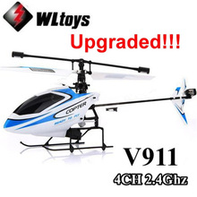 Upgraded Version WLtoys V911 2.4Ghz 4CH Single Blade Propellor Gyro Mini Radio RC Helicopter BNF(China)