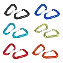 2 Pieces / Set 12KN Spring Clip Carabiner Quickdraw Snap Outdoor Climbing Backpack Buckle Hammock Hanging Hook - Various Color