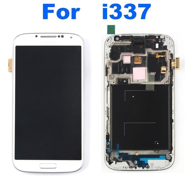 100% original For Samsung Galaxy S4 IV i337 M919 LCD Screen black + Digitizer Touch + Frame original free shipping<br><br>Aliexpress