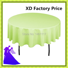 10pcs 90inch 100% polyester table cloth for wedding round table cheap price