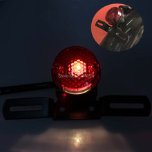 Free Shipping Universal LED Red Lens Motorcycle Brake Rear License Plate Bracket Tail Light for Most of Motorcycle Custom