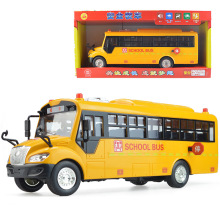 1 Pcs Car toy sound and light school bus model car toys 1:24 Diecast Metal Alloy Modle Toy Gift For Kids children free shipping(China)