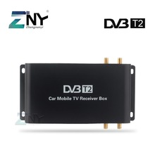 H.265 Car DVB-T2 Digital TV Box For England Germany Italy Support 200KM/H Speed Driving Digital Car TV Tuner HD 1080P(China)