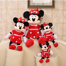 30cm High Quality cute Mickey plush toys or Minnie doll for children birthday gifts 1pcs(China)
