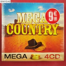 BINYEAE- new CD sealing: MEGA COUNTRY song collection method version 4CD light disk [free shipping](China)