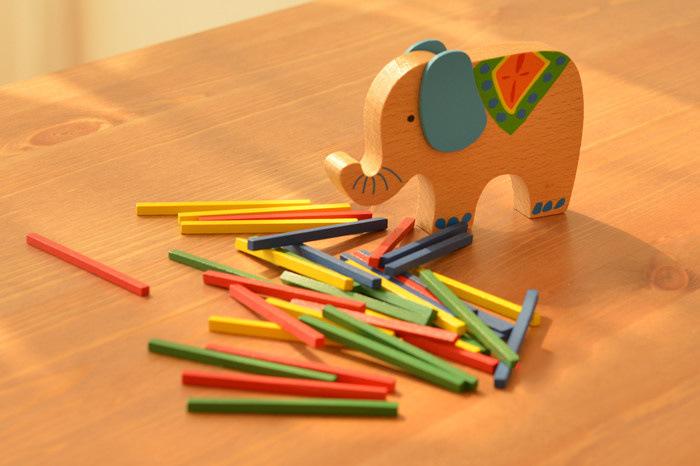 Montessori Educational Elephant Balancing Blocks Wooden Toy 3
