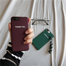 THANK YOU simple English frosted scale lovers phone sets case for iphone 6,6s ,7 and 6 plus,6s plus ,7 plus(China)