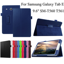 For Samsung Galaxy Tab E 9.6 Case T560 T561 SM-T561 PU Leather Tablet Pad PC Protective Case Flip Cover Shell+Stylus