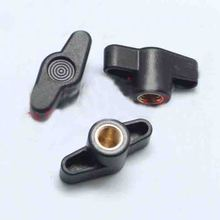M5 M6 M8 Nut handle Butterfly One Font Plastic Head T type Handle Twist Tighten Adjust Bolts whirling rotating Copper core(China)