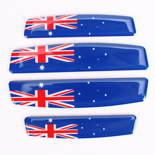 Car Styling Car Door Edge Glue Sticker Protective Sticker Australia Flag Badge Emblem Decal For Bmw VW Audi Opel  Accessories