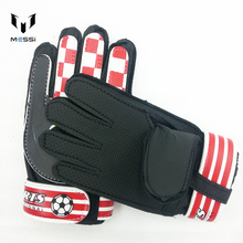 Children Brazil Spain Italy goalkeeper keeper gloves kids training Soccer ball latex palm sports band football Free Shipping(China)