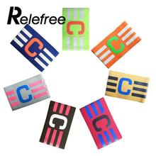 Relefree Adjustable Capitain Football Armband Soccer Armbands Multi Color Hockey Rugby Games Player Tournament(China)