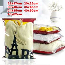 Plastic packaging zip lock front clear clothes bags Thicken plastic packaging Bedding bag sheets pouches