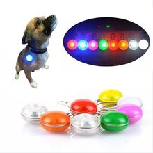 7Pcs/Lot Pet Night Safety LED Flashlight,Button Switch Glow In The Dark Bright Pets Supplies Accessories Cat Dog Collar Leads Li(China)