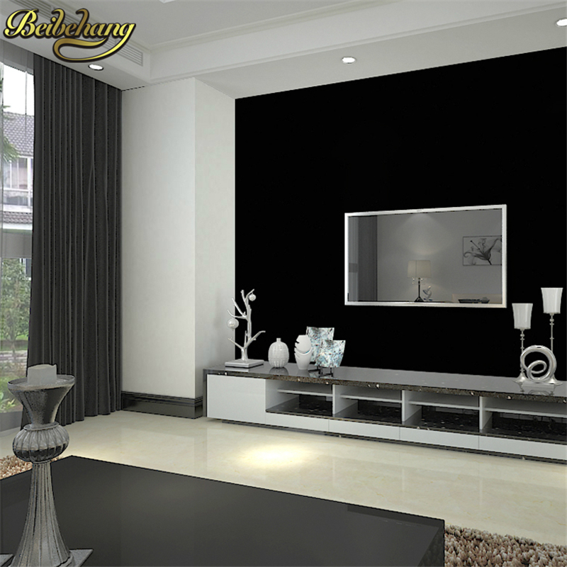 beibehang Black PVC background papel de parede 3d wallpaper roll personality black wall paper for wall vinyl wallpaper for walls<br>