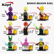 KF6030 Single Sale Building Blocks Dragon Ball Z Figures Goku Vegeta Perfect Cell Majin Buu Gohan Bulma Bardock Bricks Kids Toys(China)