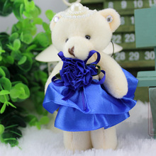 12 Pieces/Lot Cheap Cute Mini Bear Toys for Wedding Party Decor,Kawaii Plush Bear Child Baby Favor Dolls for Festival Gifts