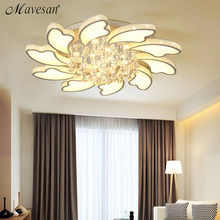 Crystal Modern Led Ceiling Lights For Living Room Bedroom AC85-265V lustre lamparas de techo Ceiling Lamp Fixtures Home Decor(China)