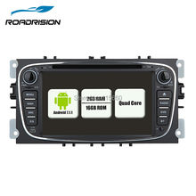 New Capacitive Screen Pure Android 7.1.1 Car DVD Navigation for Ford Mondeo S-Max Cmax Focus II GPS Radio Wifi 3G Bluetooth