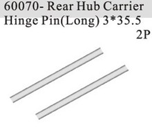 HSP part 60070 Rear Hub Carrier Hinge Pin (Long) (3*35.5mm) *2P For 1/8 RC Monster Truck Buggy Car model vehicle spare parts(China)