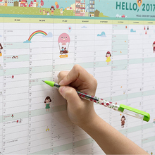 hello 2017 Calendars Efforts Plan notebook Cute Cartoon paper gift ideas Plan book kawaii Desk student Office supplies note(China)