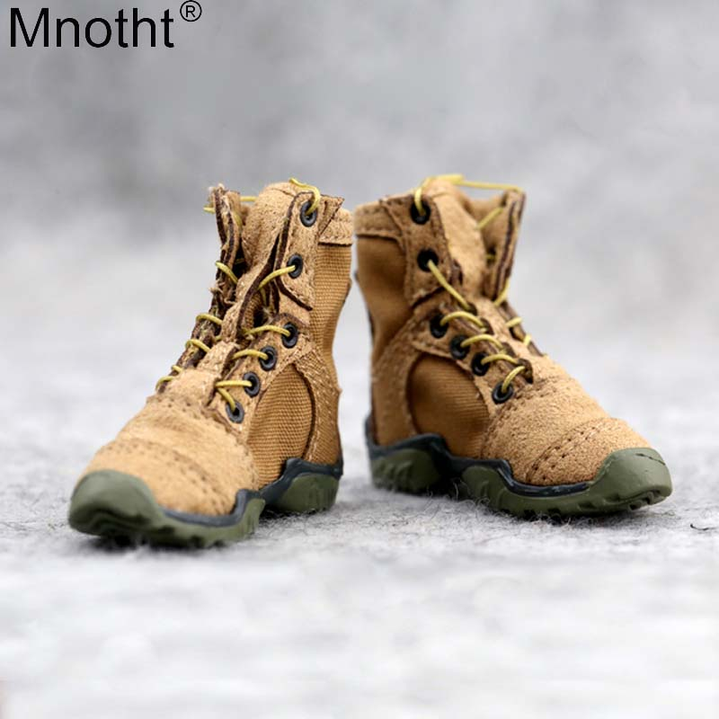 1:6 Men Combat Shoes//Boots for 12inch Male Soldier Hot Dolls Body Camel
