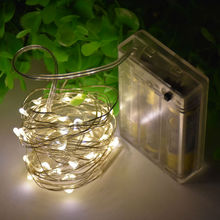 AA Battery Operated LED String Light Silver Wire LED Children Cute Night Lamp Christmas Bedroom holiday Wedding Decor Xmas Light