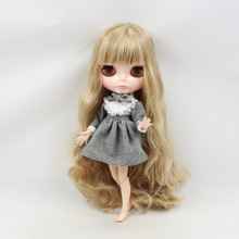 free shipping factory blyth Doll bjd neo 300BL3227 JOINT body brown hair With Bangs/fringes mix hair gift toy 1/6
