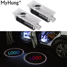2XCar Door Logo Projector Welcome Light Laser Ghost Shadow Lamp For BMW 5series E39 E53 x5 Z8 E52 M Performance Car Accessories