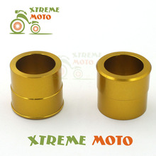 CNC Billet Aluminum Gold Front Wheel Hub Spacer Kit For Suzuki RMZ250 RMZ450 RMX450Z Dirt Pit Bike Motocross Motorcycle Racing(China)