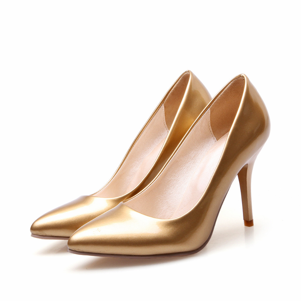 Women High Heels Stiletto Fashion Office Shoes Pointed OL Patent Leather Sexy Pumps Cheap From China<br><br>Aliexpress