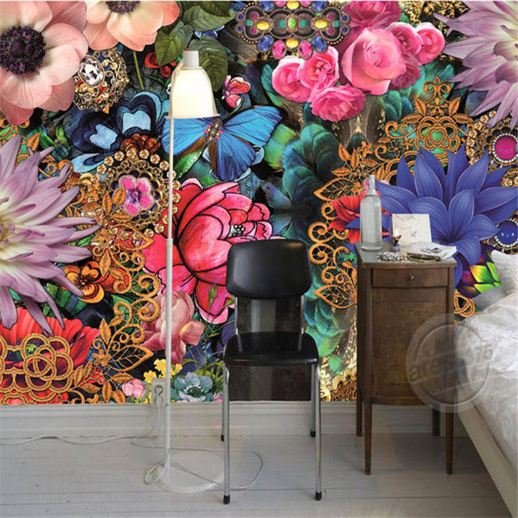 3D European style Photo Wallpaper Custom Mural Gorgeous Flowers Wallpaper Large wall art Room Decor Bedroom Sofa background wall<br><br>Aliexpress