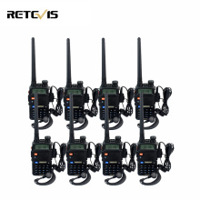 8Pcs Retevis RT-5R Portable Walkie-Talkie 5W 128CH Dual Band UHF VHF Two-way Radio Scan VOX Handheld Radio Transceiver RT5R
