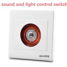 Hot Worldwide 86 type Intelligent Auto On Off Light Sound Voice Sensor Switch Time Delay Energy-Saving Panel AC220v CM105(China)