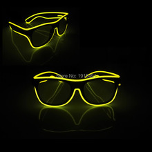 Fashionable Classic Crazy Wedding decor Light up Eyewear Novelty Lighting Sparkling Colorful LED Sun Glasses for Cainival Party