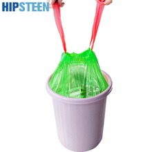 HIPSTEEN Stringing Thicken Kitchen Household Automatic Trash Can Bin Rubbish Garbage Plastic Bag - Green