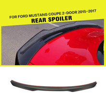 Carbon Fiber Car Trunk Spoiler Wing for Ford Mustang GT Coupe 2015 2016 2017(China)